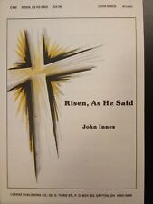 Church Choral Sheet Music Easter: Risen, As He Said (Innes) Satb 10 Copies