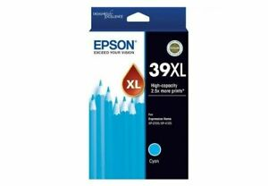 Genuine Epson 39XL CYAN Ink Cartridge for Expression Home XP-2105 XP-4105