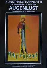 """Augenlust großes Ausstellungsplakat Motiv """"Allen Jones"""" 1998, Pop Art - Neu"""