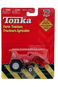 2007 Tonka 60th Anniversary Farm Tractors Red with Silver Wheels Shovel