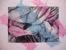 Tulipmania 12 con rosa e blu chine-collé-edizione limitata firmato morsura