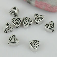 70pcs Tibetan silver color heart-shaped pattern spacer beads EF0414