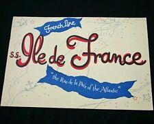 Cgt French Line Ss Ile De France Richard Lindner Brochure