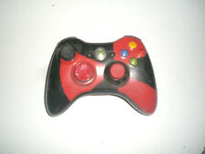 Xbox 360 Wireless Controller guter Zustand Skin schwarz rot