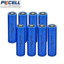 8pcs 2600mAh 3.7V ICR18650 Rechargeable Battery Button Top No PCB PKCELL