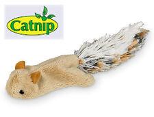 Katzenspielzeug Plüsch Eichhörnchen Catnip nachfüllbar Katzenminze Knisterfolie
