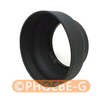 62mm 3-in-1 3-Stage Collapsible Rubber Lens Hood