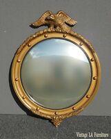 Vintage Federal Gold Eagle Convex Wall Mantle Mirror 13 Colonies