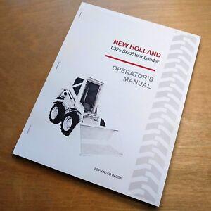 New Holland L325 Skidsteer Loader Operator's Manual Owner's Book NH