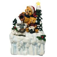 Vintage Avon Christmas A Beary Special Holiday Fountain Star On Tree Light