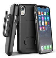 Apple iPhone XR Belt Clip Case / Cover with Slim Fit Holster Clip (DuraClip)