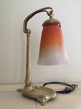 LAMPE APPLIQUE ART DECO / ART NOUVEAU C.RANC. TULIPE EN PATE DE VERRE SCHNEIDER.