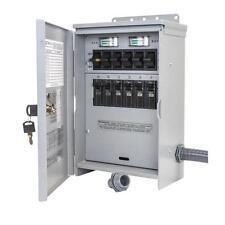 New Outdoor 30-Amp 250-Volt 7500-Watt 6-Circuit Generator Transfer Switch-Kit