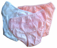 Ladies Knickers Pack 3, UK Size 14 Sheer Frilly Lacy 18661 Vintage Pink Peach
