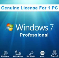 Windows 7 Professional key/license key 100% Original 32/64 Bits mehrsprachig