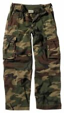 Rothco KID'S WOODLAND CAMO PARATROOPER FATIGUE PANTS (L & XL ONLY)