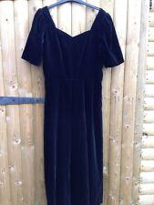Vintage Laura Ashley Black Medieval Mistress Victorian Velvet Corset Dress 14
