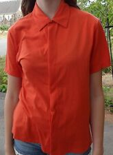 VINTAGE DKNY USA Short Sleeve Shirt Adult Small Donna Karen Orange Shirt 90s Sm