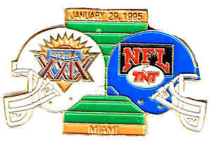 1995 SUPER BOWLXXIX SAN FRANCISCO 49ers/SAN DIEGO  CHARGERS TNT BROADCASTERS PIN