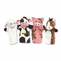 Melissa & Doug Kids Farm Animals Animal Soft Plush Hand Puppets - Set of 4