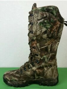 "RedHead Realtree Waterproof Insulated 16"" Hunting Snake Lace-Up Boots Mens Sz 11"