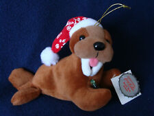 Coca Cola Bean Bag Plush Ornament - Walrus in Red Cap - 1998