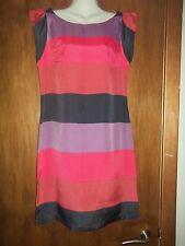 womans multi colour striped dress from next size 8 in v good condition
