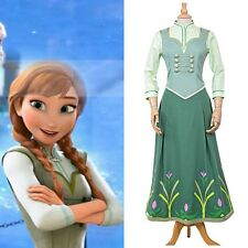 Frozen Fever Anna Princess Birthday Party Dress Cosplay Costume Full Set