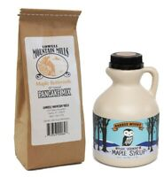 Perfect Breakfast Combo, Vermont Dark Maple Syrup and Pancake Mix- Free Shipping