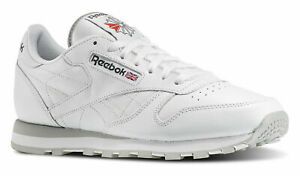 Reebok Classic Leather White, Grey Mens Running Tennis Shoes Item 101