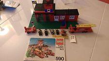 LEGO LEGOLAND #590 ENGINE COMPANY No. 9 VINTAGE 1977 COMPLETE+INSTRUCTIONS+FIGS