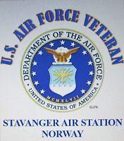 STAVANGER AIR STATION*-NORWAY*AIR FORCE W/ AIR FORCE EMBLEM* SHIRT