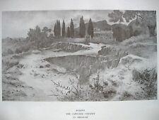 stampa antica Castelli Romani ALBANO CONVENTO CAPPUCCINI - BRIOSCHI 1904
