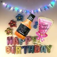 Champagne Bottle Foil Balloon Beer Christmas Ornament Birthday Xmas Party Decor