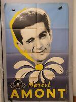 Affiche ancienne Marcel Amont Polydor Arvis Veignant Deligne 80 x 120