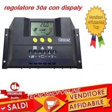 Regolatore di carica solare fotovoltaico 30A LCD 12V /24V per pannello solare