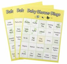 Game for Baby Shower -  BINGO - for 24 players  - FREE SHIP