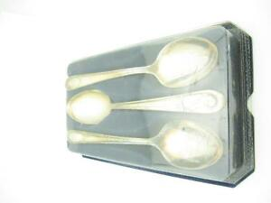 VTG WM Rogers Presidential Silver Spoon Set of 3 In Original Package