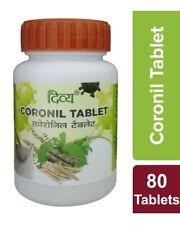 2 X Patanjali Divya CORONIL 80 Tablets Per Bottle | Fast Shipping