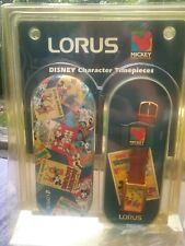 SEALED IN PACKAGE DISNEY-LORUS  MICKEY MOUSE CIRCUS WATCH WITH PAPERWORK AND TIN