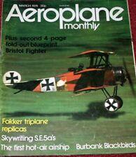 Aeroplane Monthly Magazine 1974 March SE5A,SR71 Blackbird,Bensen Autogyro