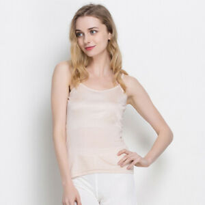100% Silk BasicCamisole Top Vest Shirt Sleepwear Adjustable Straps M- 2XL HY118