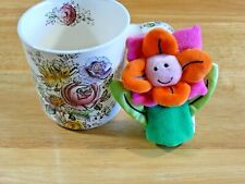 Manhattan Tot Puppetos Flower Finger Puppet Orange Pink 2003