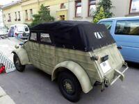 VW Kübel, KDF 82, Verdeck, neues handgemachtes Stoffverdeck, Plane in schwarz