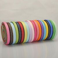 25 m meters Polka Dot Grosgrain Ribbon reel 10mm wide Spotty Dotty