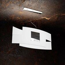 Lampadario in vetro bianco e cromato moderno a 2 luci tpl 1121/S75-CR