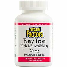 Natural Factors, Easy Iron 20 mg Chewable, Supports Energy Production and Oxygen