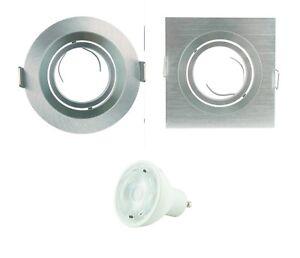 Set LED-Einbaurahmen ALU-Rahmen Spot Deckenspot Einbaustrahler Spot Strahler 7W