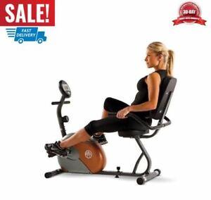 reclinado ejercicio bicicleta con 8 niveles de resistencia fitness para casa