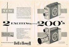 "1952 Bell & Howell 16mm ""200"" Movie Camera Swifturn Centerfold Vtg Print Ad"